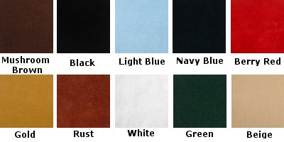 Bench Pad Colors