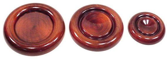 Brown Mahogany Caster Cups