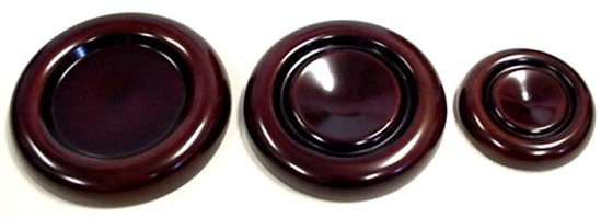 Dark Brown Mahogany Caster Cups