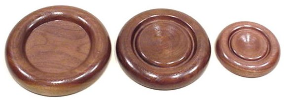 Walnut Caster Cups