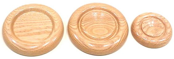 Golden Oak Caster Cups
