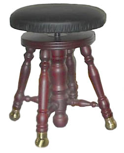 Piano Stool - Upholstered Top - GRK